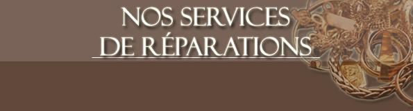 Nos services de réparations