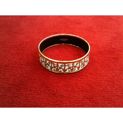 d2ffac9bf0dc Bracelet Hermès large en émail Balcons du Guadalquivir