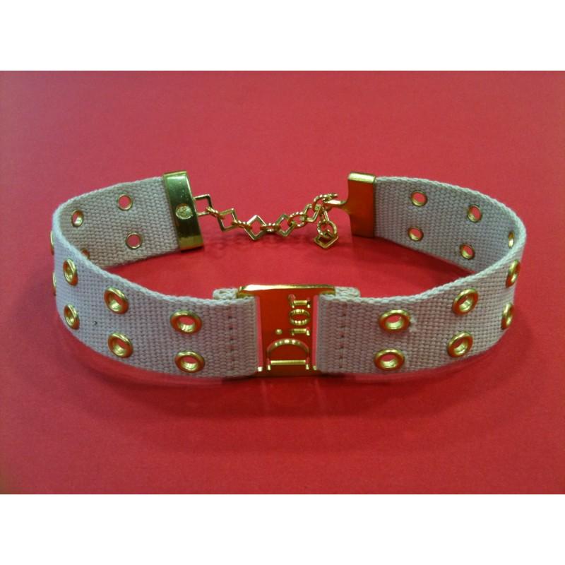 9d1b9a54126a Collier Dior Collier de chien. Vendu