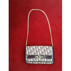 cc4490928c Portefeuille Dior vintage en tissu logo et cuir