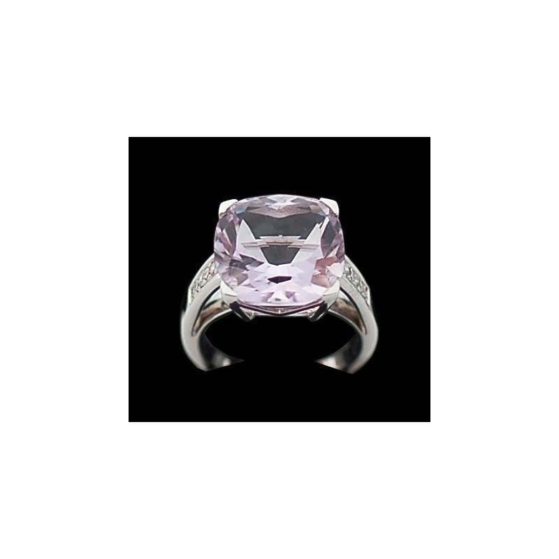 bague diamant rose de france