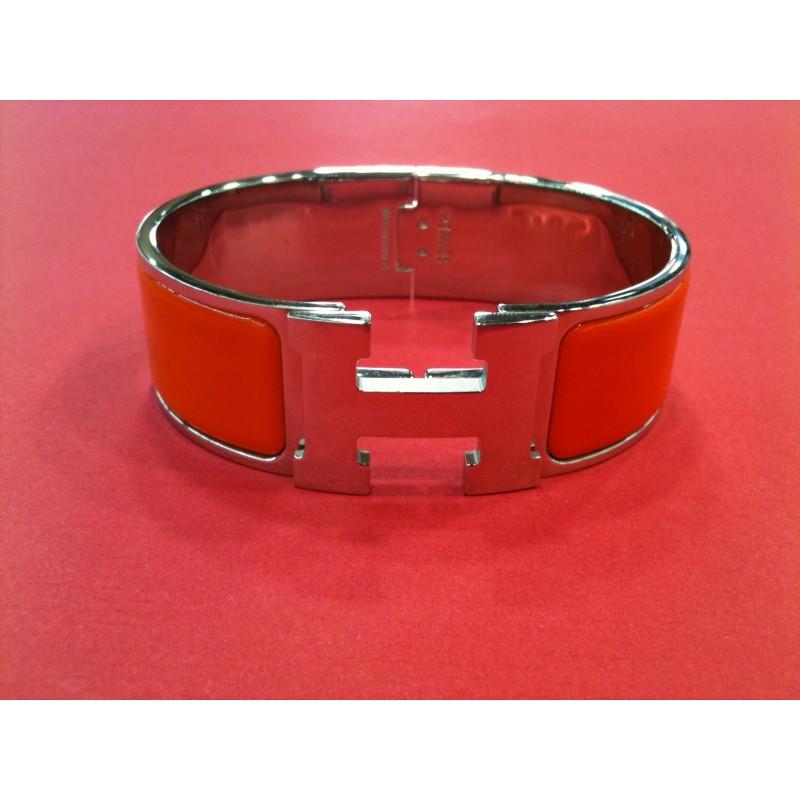 6e76dcd2507 ... closeout bracelet hermès clic clac h en émail orange 5c772 57bd4