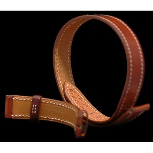 69b93ed92aa8 ... germany bracelet de montre hermès double tour en cuir marron b1636 241be