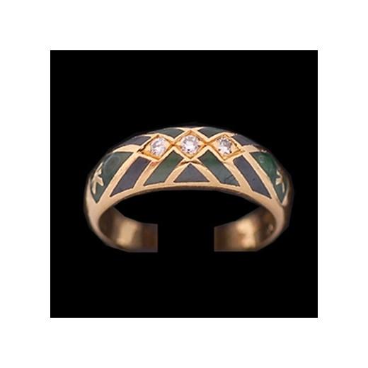 68674ca639789 Bague Korloff en or, émail et diamants