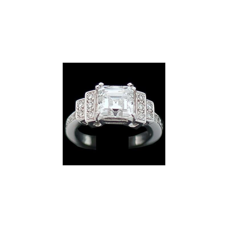bague diamant barrette