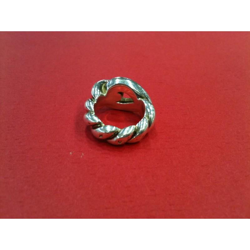 8592ac28512d Bague Hermès Noeud marin en argent. Vendu