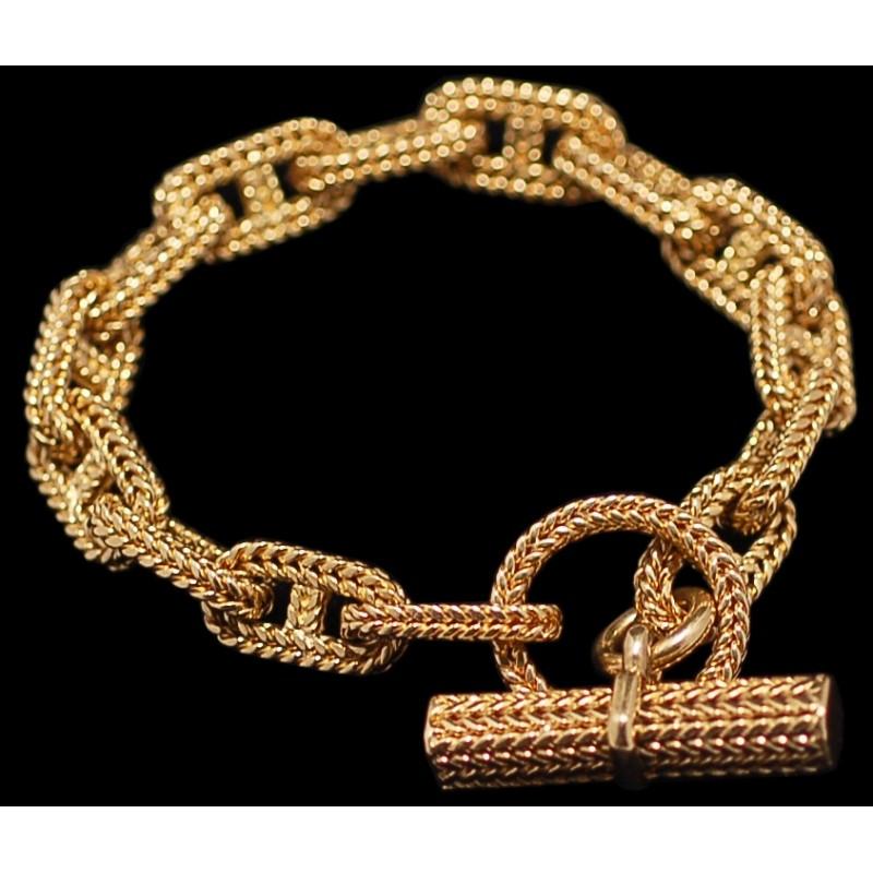 Bracelet Or Jaune Chaîne Dancre Bijoux En Or Hermès 3ea9a7c91d5