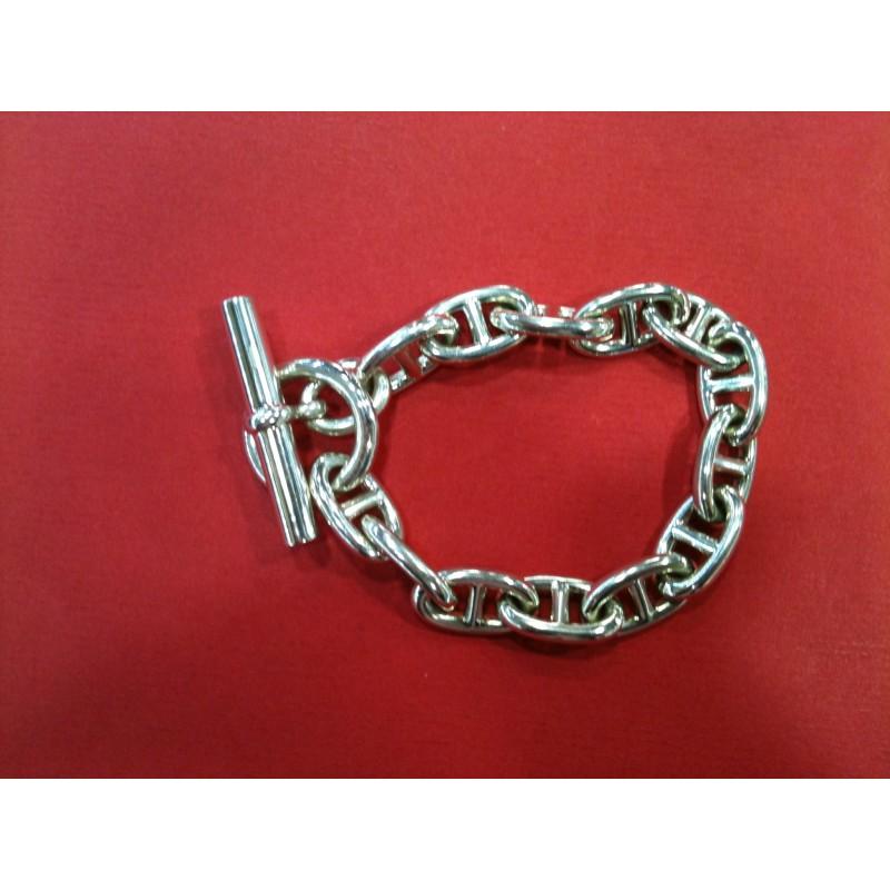 994df5ccd19 Bracelet Hermès Chaîne d ancre MM en argent. Vendu