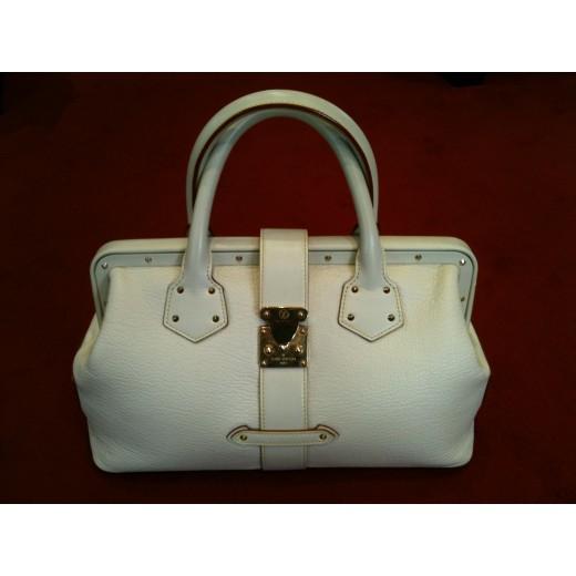 1f6d748a441b Sac Louis Vuitton Le Talentueux en cuir blanc