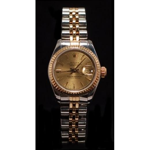 Rolex Lady Datejust or et acier