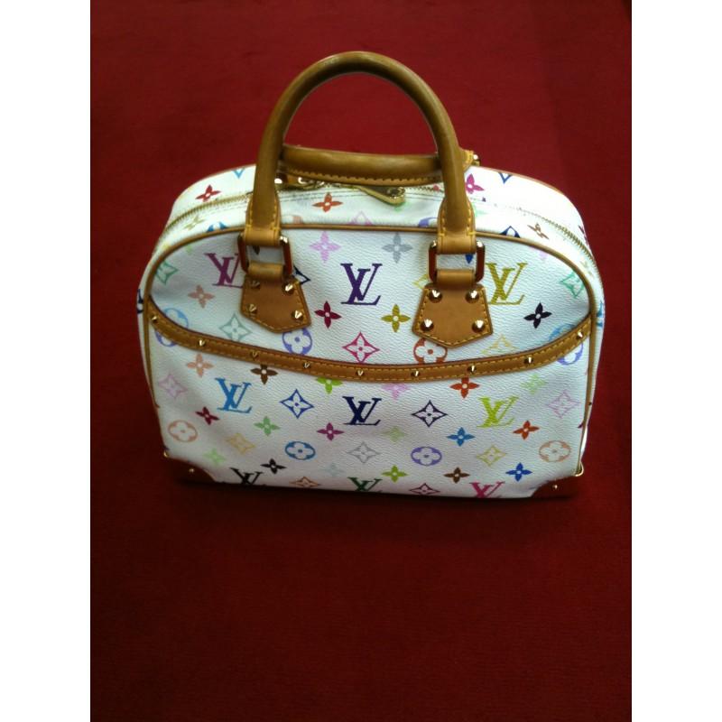 3faeabe4023d5 Sac Louis Vuitton Trouville en toile monogram multicolore. Vendu