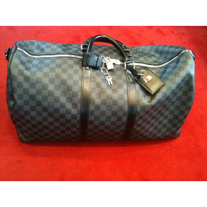 Sac de voyage Louis Vuitton Keepall 55 en toile damier