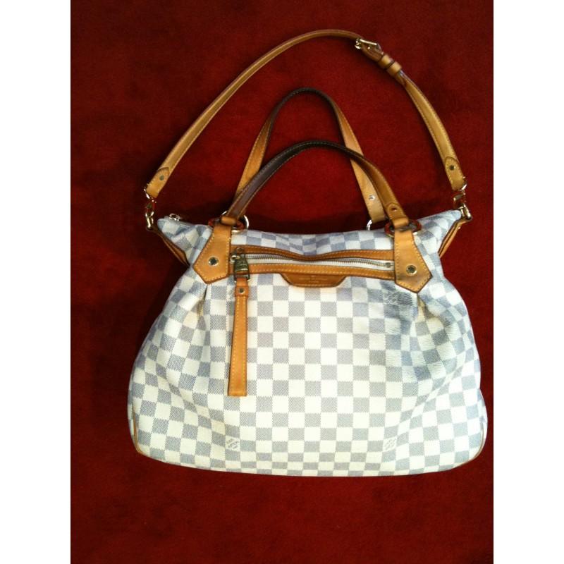 Sac Louis Vuitton Siracusa PM en toile damier azur a5586da20c3