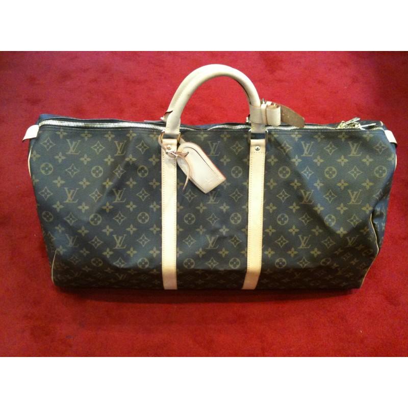 65d2e9b9634e Sac de voyage Louis Vuitton Keepall 60 cm en toile monogram. Vendu