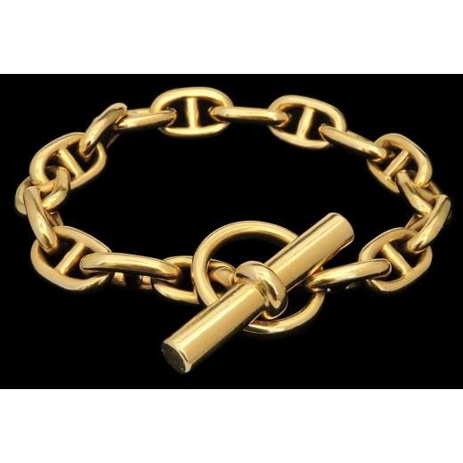 Bracelet Hermès Chaîne d ancre en or 7c0b012cae2