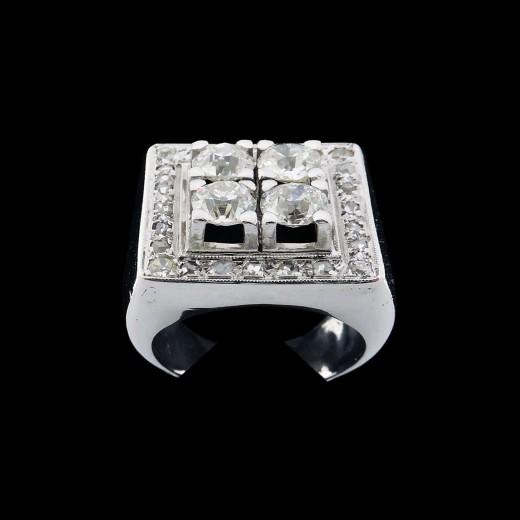 bague diamant rectangulaire