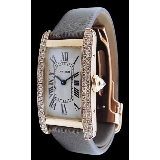 Montre Cartier Tank Américaine Diamants