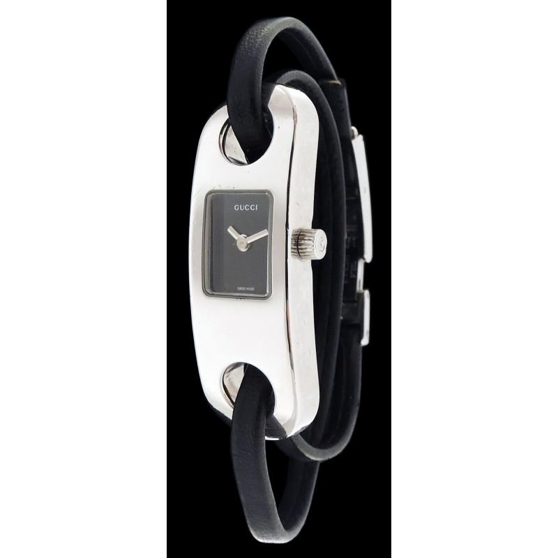 1b39e058225 Montre Gucci 6100L bracelet double tours. - Excellent -