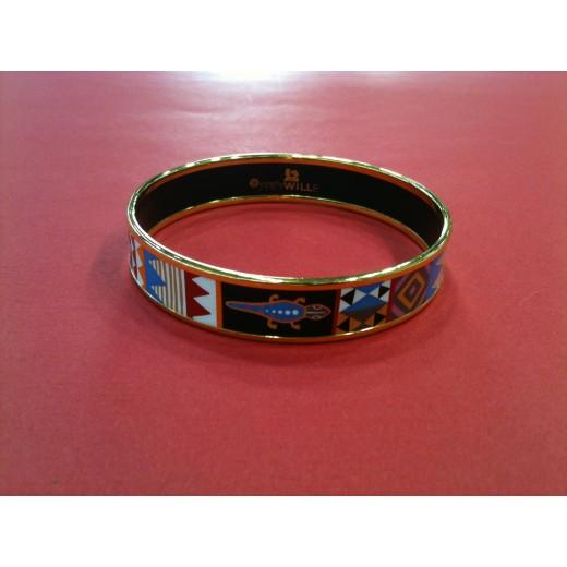 aa30439360e0 Bracelet Frey Wille Spirit of Africa en émail et plaqué or