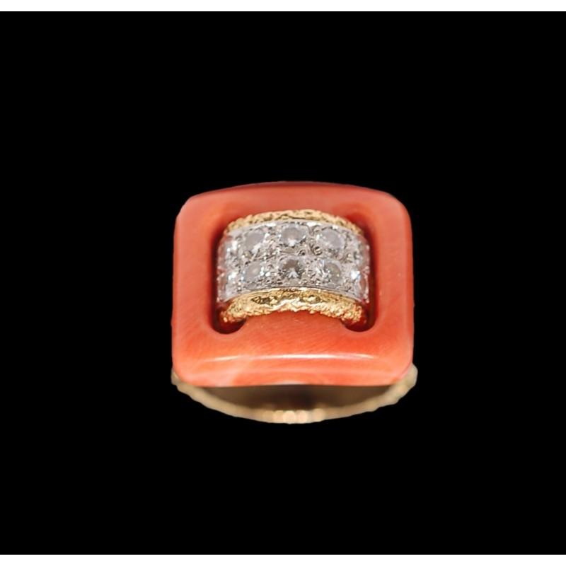 bons plans sur la mode mode la plus désirable une grande variété de modèles Bague Van Cleef & Arpels en or, corail et diamants