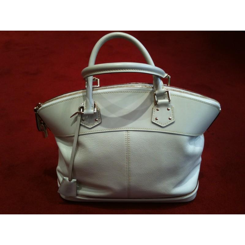 e6a6981c5d Sac Louis Vuitton Lockit cuir blanc