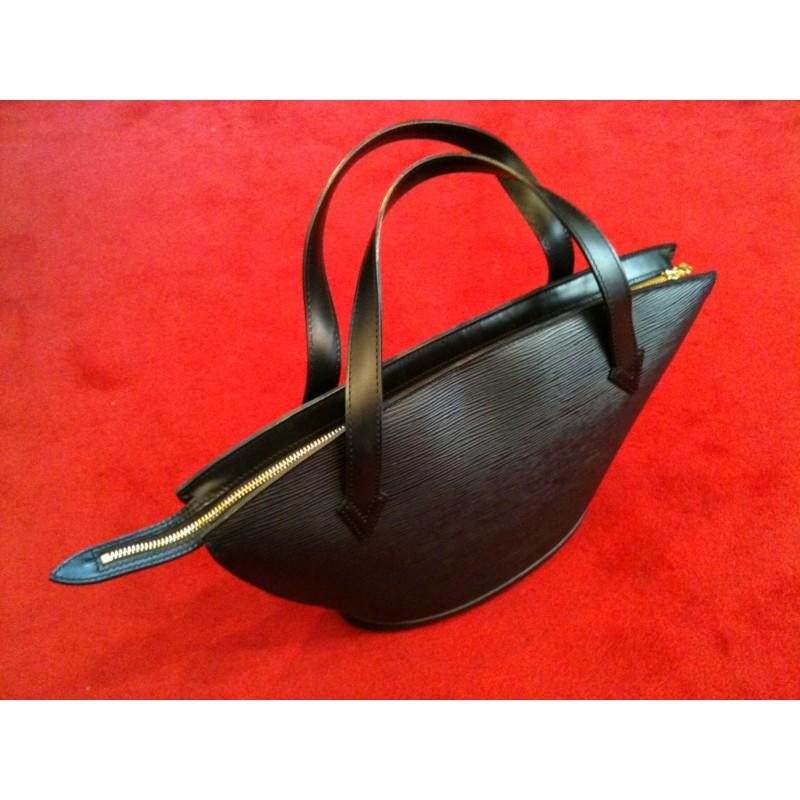 58118a5309e8 Sac Louis Vuitton St Jacques en cuir épi noir. Vendu