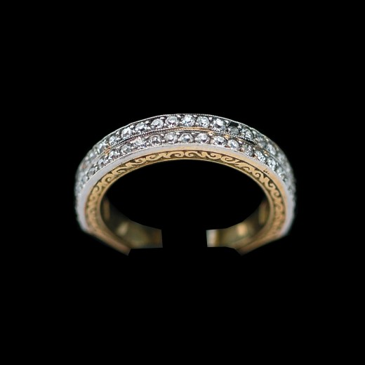 Conception innovante 93f6c e5160 Bague ancienne pour homme en or, platine et diamants