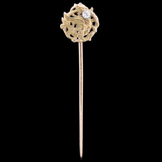 Épingle à cravate Chimère deux ors Diamant