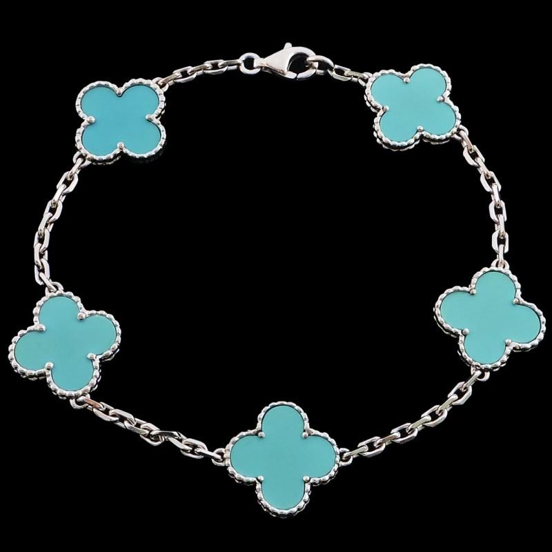 Cleefamp; Bracelet Van Turquoise Arpels Alhambra Vintage xdCQrhBts