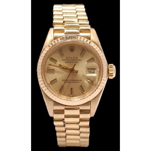 b3a0050a2ef Montre Rolex Lady Datejust Président en or