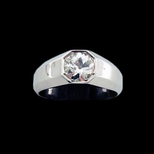 nouvelle arrivee de0b2 3ac0f Bague Homme platine et diamant