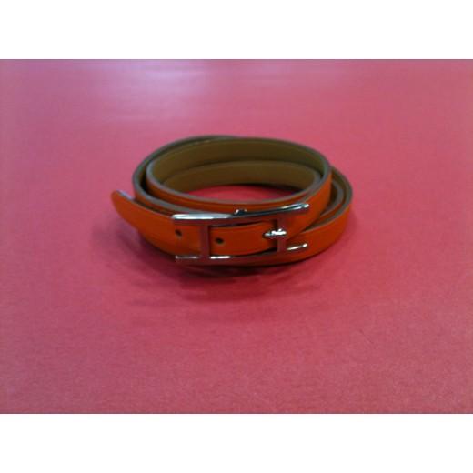 Bracelet Hermès Hapi 3MM en cuir orange 381867d0548