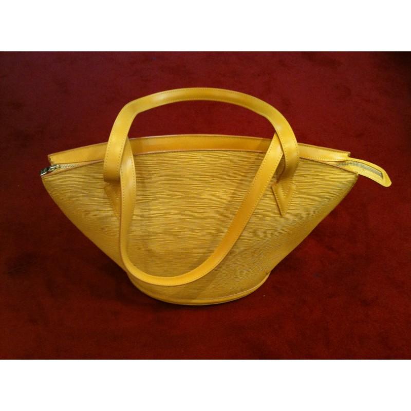 78f6d003d92f Sac Louis Vuitton St Jacques en cuir épi jaune. Vendu