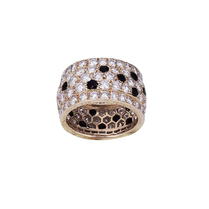 courir chaussures prix pas cher marque célèbre Bague Cartier pavage Diamants et Onyx