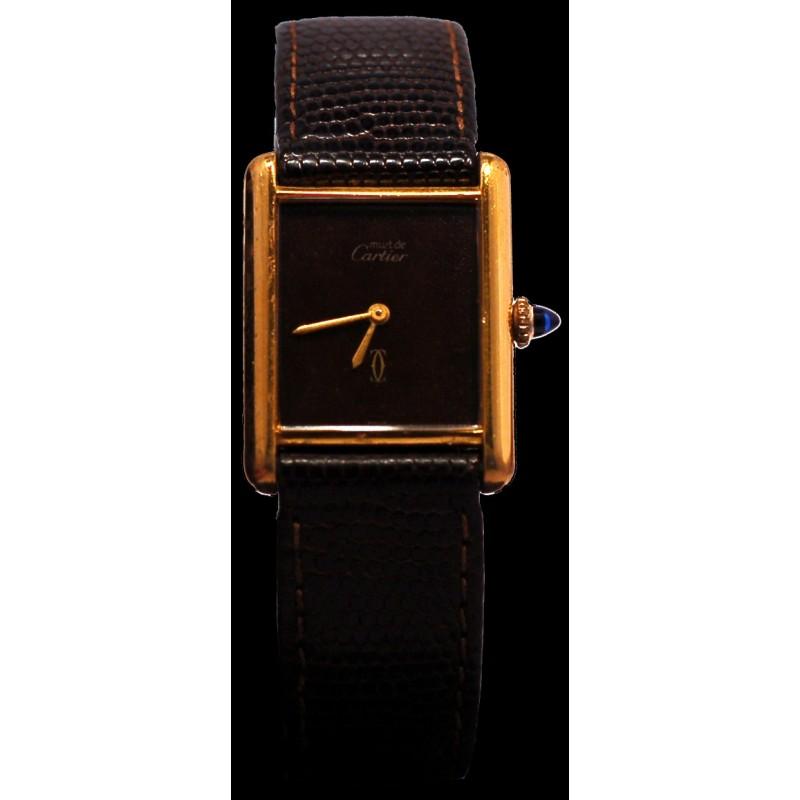 Montre Must de Cartier mécanique en vermeil