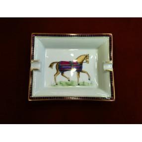 575493f467d8 Cendrier Hermès Cheval en porcelaine de Limoges