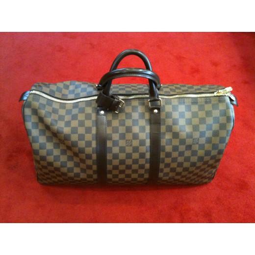 Sac de voyage Louis Vuitton Keepall 50 en toile damier