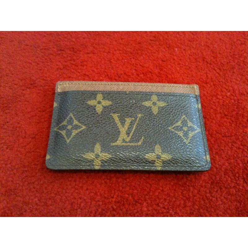 grand choix de 690f4 a4daf Porte-cartes simple Louis Vuitton en toile monogram