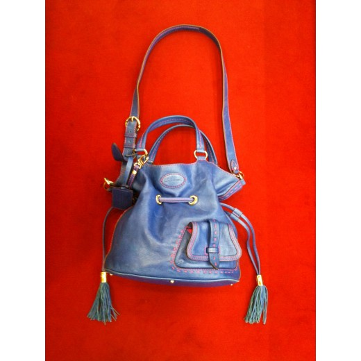 b94629b37e6 Sac Lancel Premier Flirt en cuir bleu
