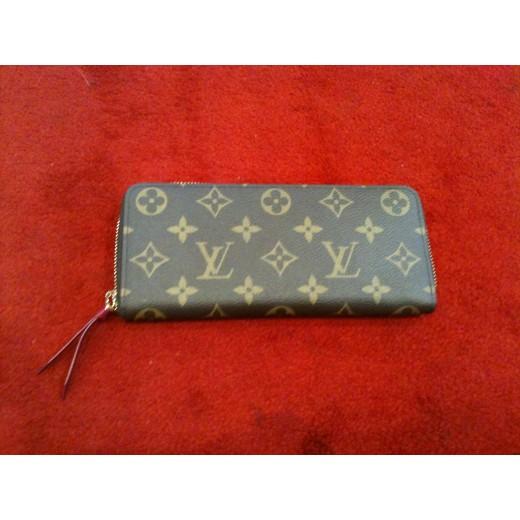 grande vente 87d14 a22bd Portefeuille Louis Vuitton Clémence en toile monogram