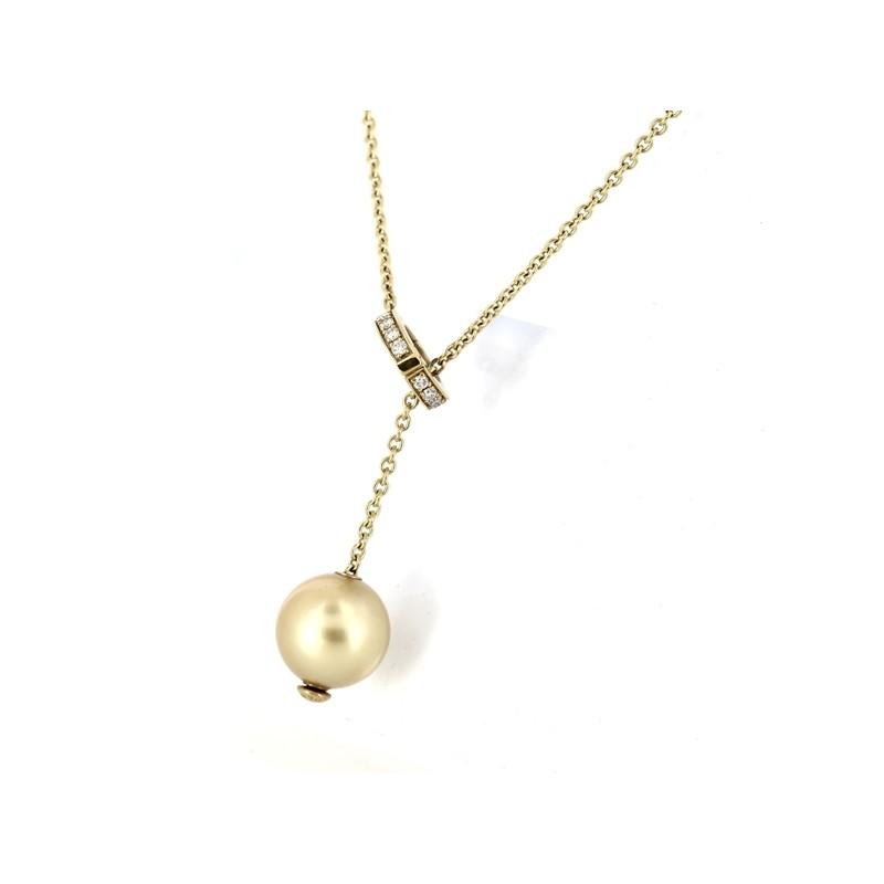 afdfa4778ee Collier Mikimoto avec Perle de Culture Gold. - Excellent -