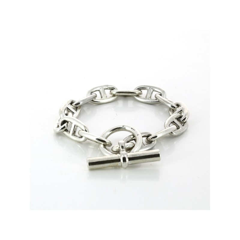 e4a3274b77e Bracelet Hermès Chaîne d Ancre en argent. Vendu