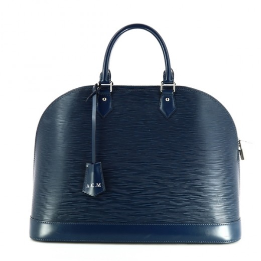 Sac Louis Vuitton Alma GM en cuir épi bleu