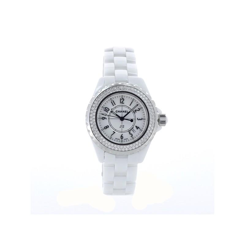 286e601beb2 Montre Chanel J12 Ceramique Diamant. - Excellent -