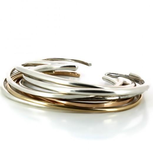 Bracelets Marc Deloche Amazone en argent et or