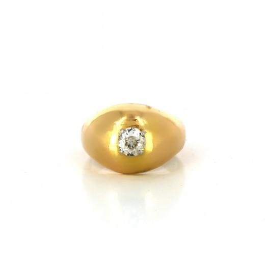 Bague ancienne jonc avec diamant