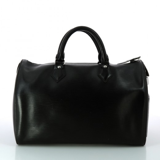 Sac Louis Vuitton Speedy 35 en cuir épi noir