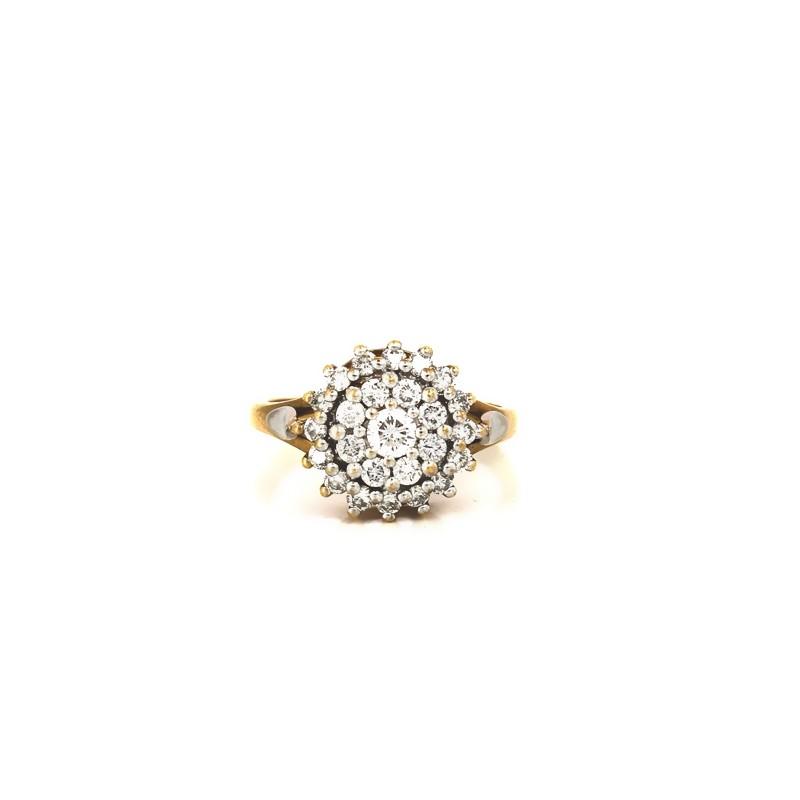 Bague en or jaune avec pavage diamants 8ecaa1947cbe