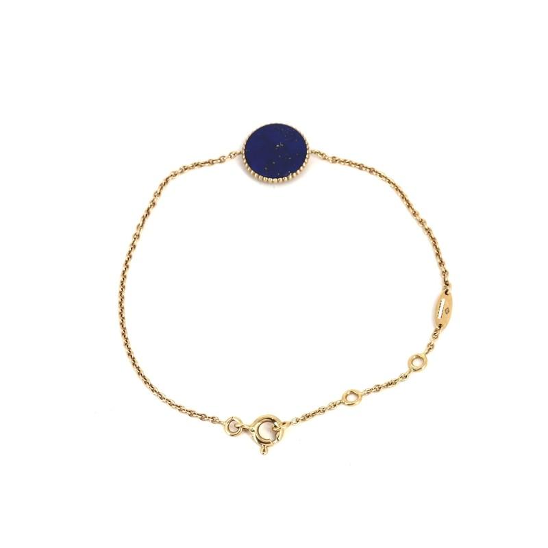 Bracelet Dior Rose Des Vents En Or Jaune Et Lapis Lazuli