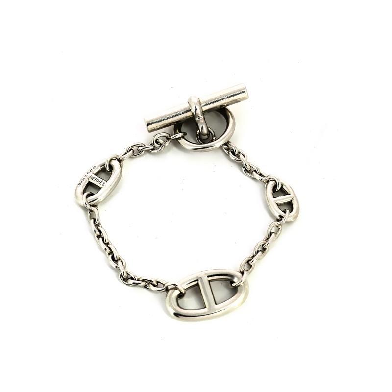 Bracelet Hermès Farandole en argent. Vendu bf5a9237a4c